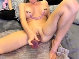 Toying Wet Squirting Pussy Close Up
