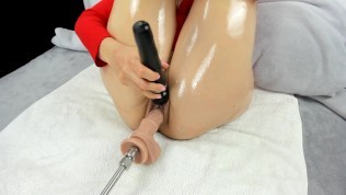 SEXY BODY FUCKMACHINE AND SQUIRT REAL ORGASM