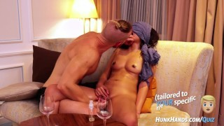 Asian STUNNER begs him to STOP.. multiple SQUIRTS all over hotel room!