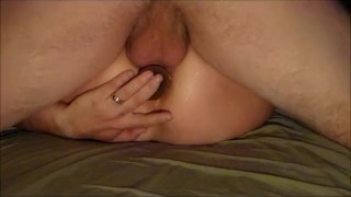 Real Squirt Queen gets fingered, fisted & fucked hard with anal creampie
